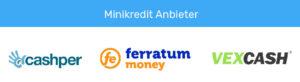 Logos der größten Minikredit Anbieter