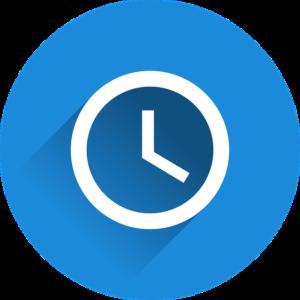 Uhr - Symbol für kurze Laufzeiten