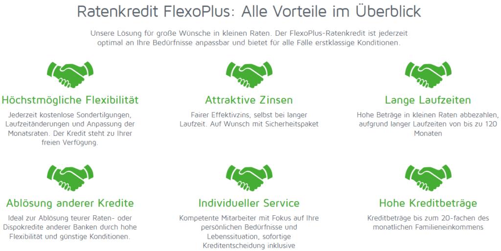Vorteile des FlexoPlus Kredits