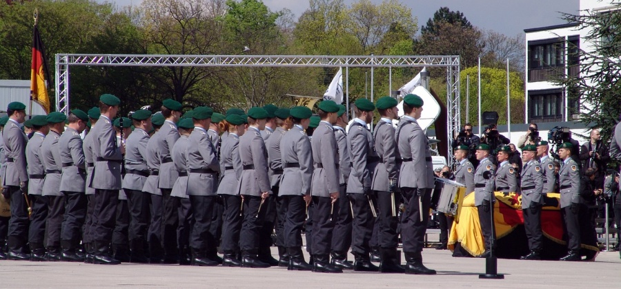 Soldaten beim Staatsakt