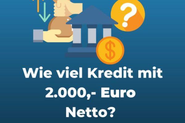 Infografik 2000,- Euro netto Kredit