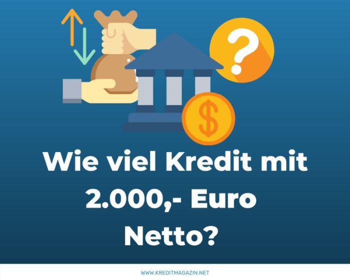 Kredit bei 2000, 2100, 2200, 2300, 2400 Euro netto