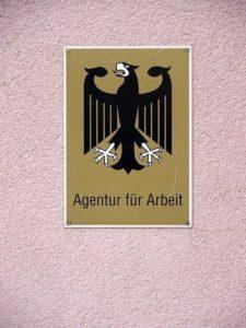 Agentur für Arbeit Bundesadler Schild